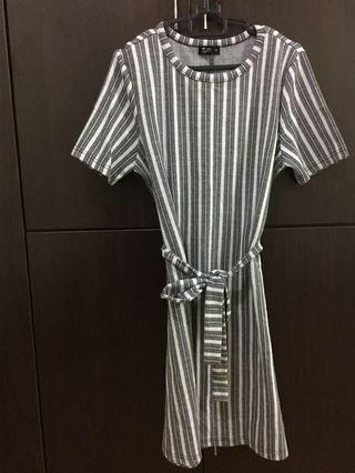 🚚 Net Striped Dress