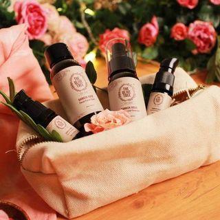 TheOliveTree Damask Rose Facial Care Travel Set (free pos)