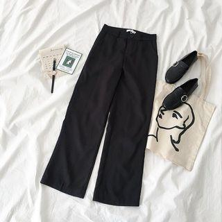 Highwaisted Black Long Formal Pants