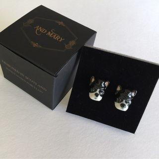 "✨NEW ""AND MARY"" fawn French bulldog stud earrings✨"