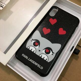 😍Karl Lagerfeld😍iPhone X & iPhone Xs 黑色電話套 Black Cell Phone Case