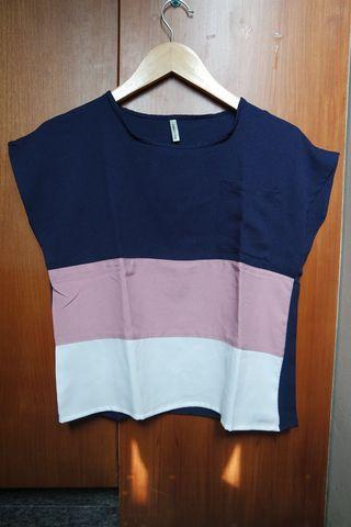 No Brand Block Color Top