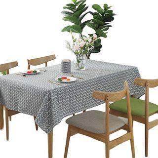 6seater table cloth grey