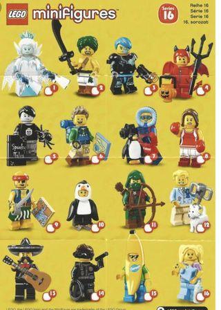 Lego Minifigures 71013 series 16  僅兩套