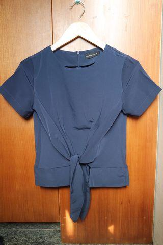 The Executive Navy Bow Top