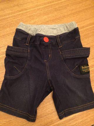 二手 bobson 短褲 90cm 90公分 兒童 牛仔褲風