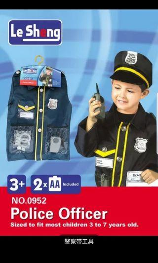 Kids occupation costume - police officer