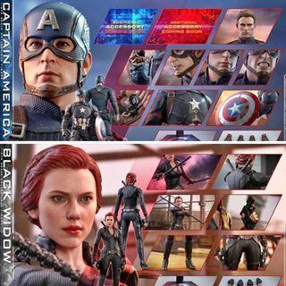 HOT TOYS《復仇者聯盟4:終局之戰》美國隊長 黑寡婦 1:6 購買單據 +$550
