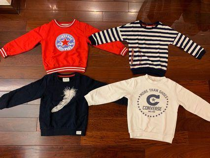 Boy's tops x 4 - all 120 size