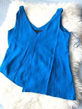 Zara basic blue top original