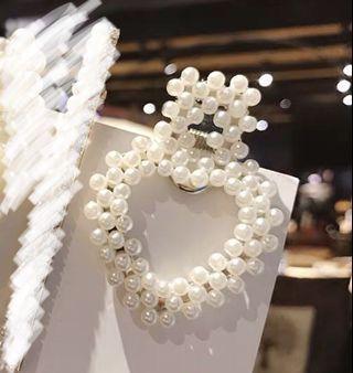 🚚 珍珠髮夾(銀)