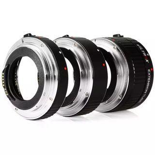 VILTROX DG-C Auto Focus Macro Extension Tube Set for Canon EOS EF & EF-S Mount 5D2 5D3 5D4 6D 7D 70D T7 T6i T5i