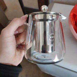 450ml Teapot Glass (Quality glass & heat resistant) 304 Stainless Steel Tea pot filter