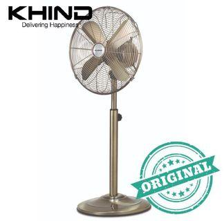 """KHIND SF141 Antiques Stand Fan 14"""" Full Metal Body"""