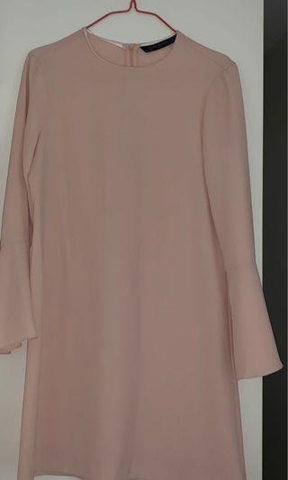 Zara bell sleeve dress