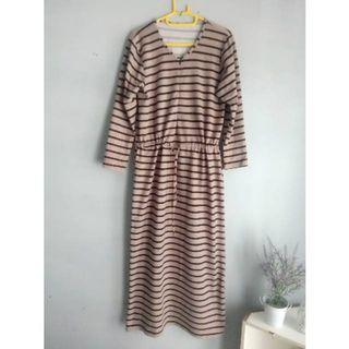 Longdress salur/ garis busuy friendly