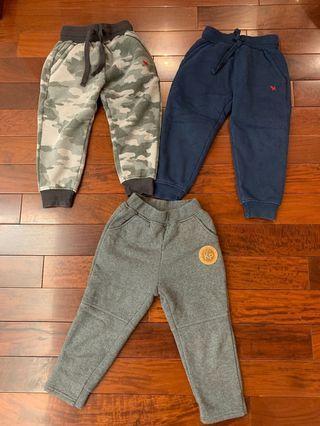Boys pants for winter x 3 - super warm and comfy 男童加厚長褲x3,超暖超舒服