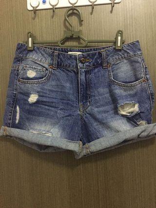 Forever 21 Distressed Premium Denim Shorts