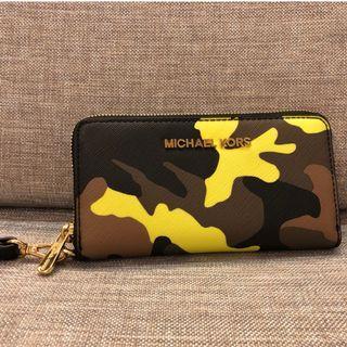 Michael Kors MK 迷彩 錢包 中夾 皮夾