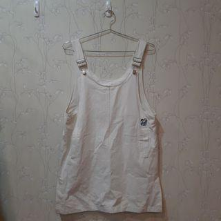🚚 可愛刺繡白色吊帶裙