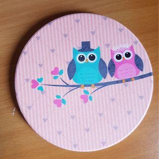 🚚 Owl Couple Coaster