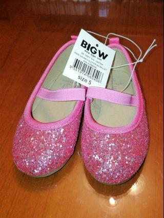 NEW Pink Bling Princess Girl Shoes