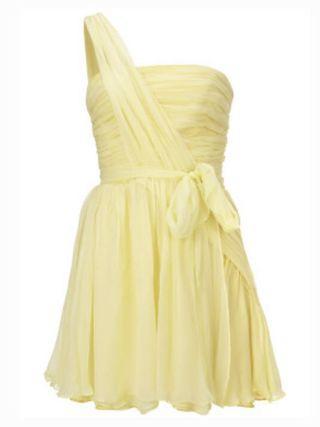 Kate Moss Topshop Yellow Chiffon Dress