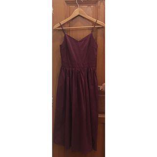TEM Midi Maroon Dress