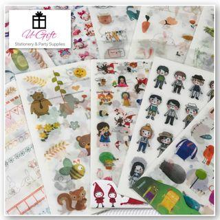 🚚 [STI]6 sheets/pack Assorted Cartoon Goodie Bag Stickers
