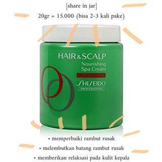 SHARE IN JAR 20gr Shiseido Proffesional Hair & Scalp Nourishing Spa Cream Damaged Hair