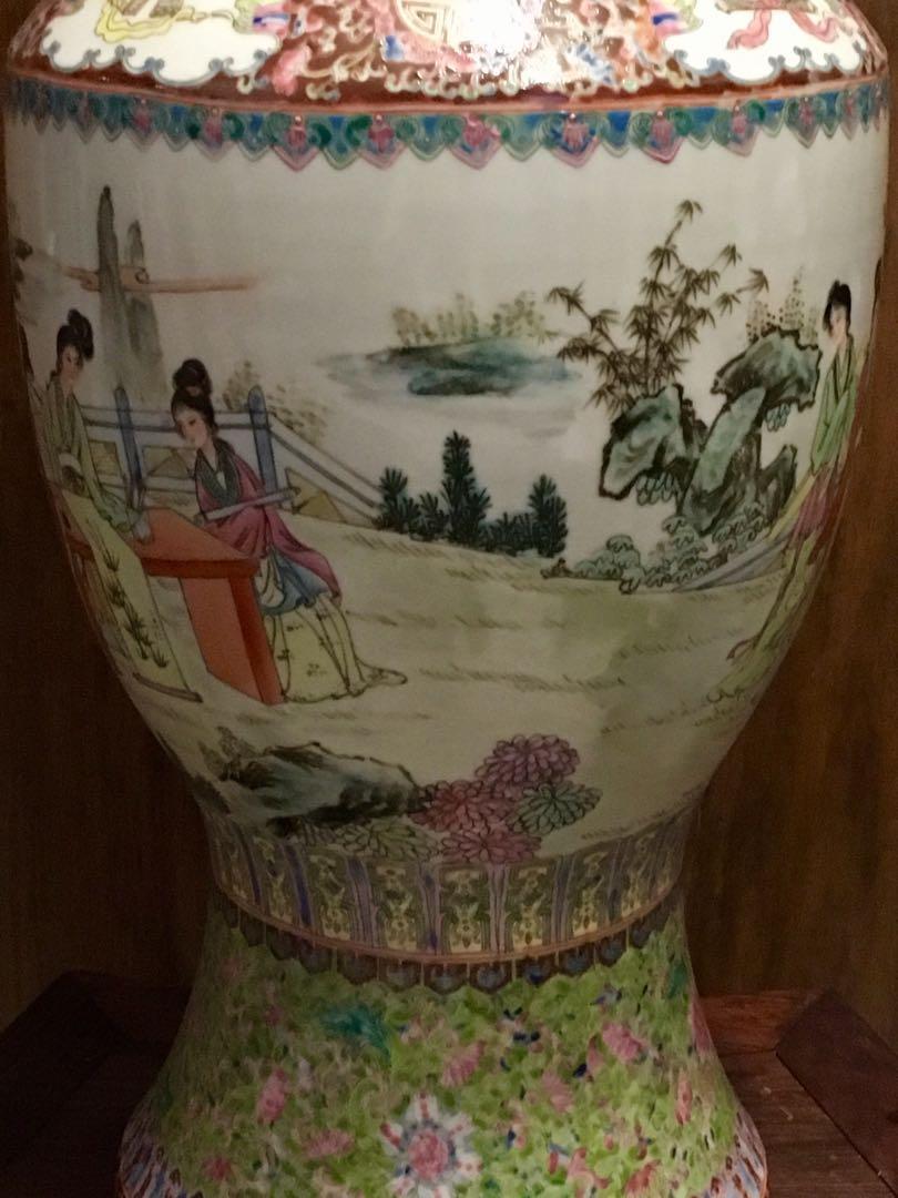 80/90年代粉彩人物(仕女)大花瓶
