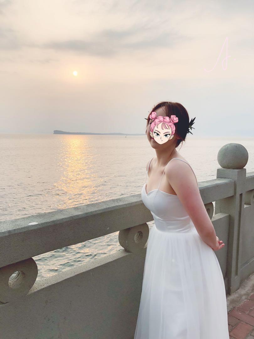 婚紗裙一件連兩件伴娘禮服