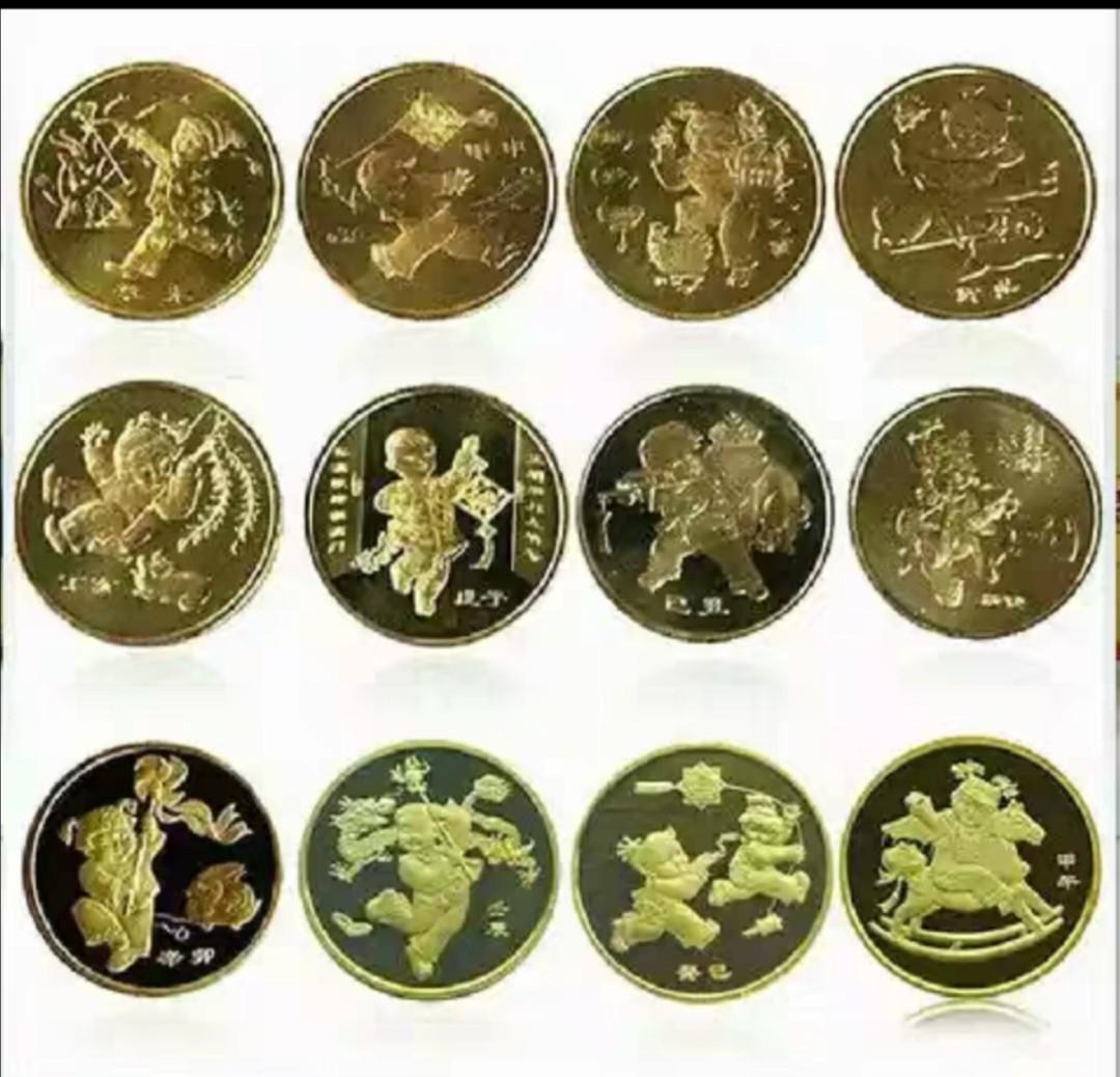 中國大陸第一套生肖紀念幣,瀋陽造幣廠制,還沒拆封原包裝,保證真品。要就拆封