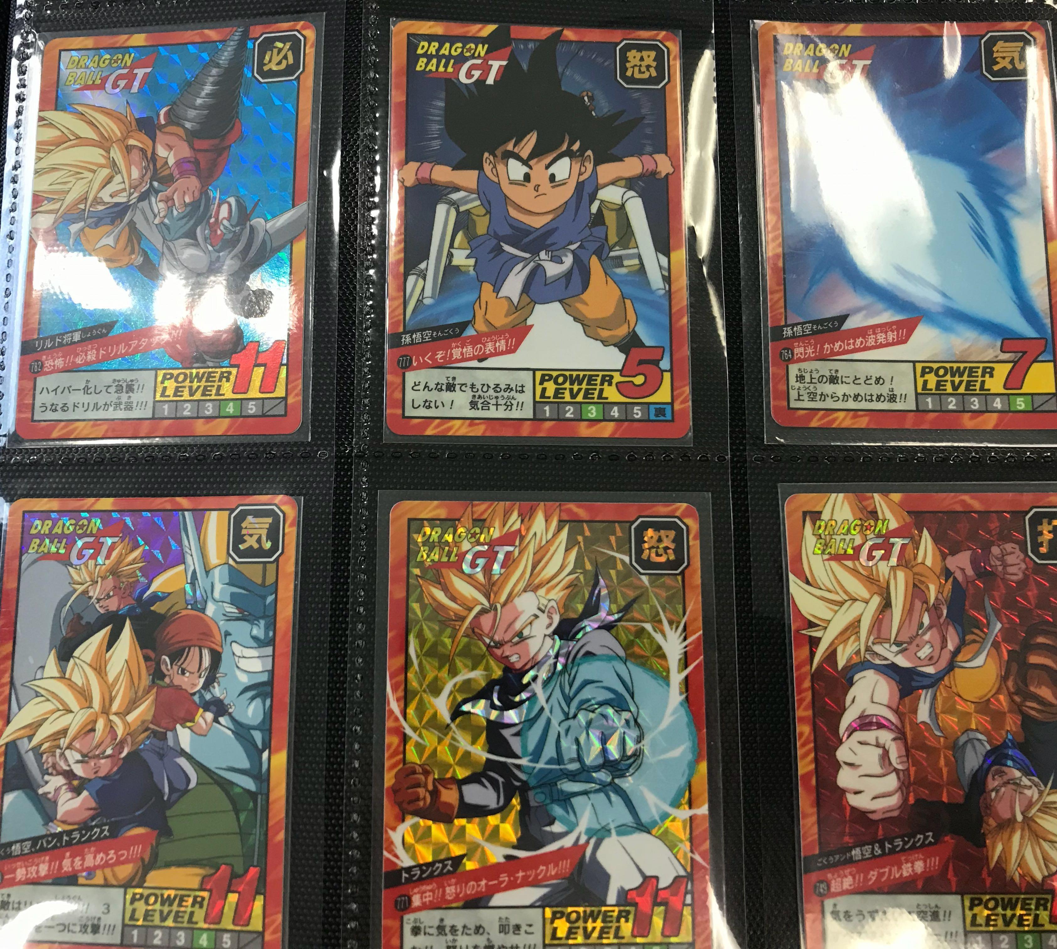 龍珠 激鬥18 全套 閃卡6張  閃中閃 777暗閃 Dragon Ball Card Japan  95% 美品 未開