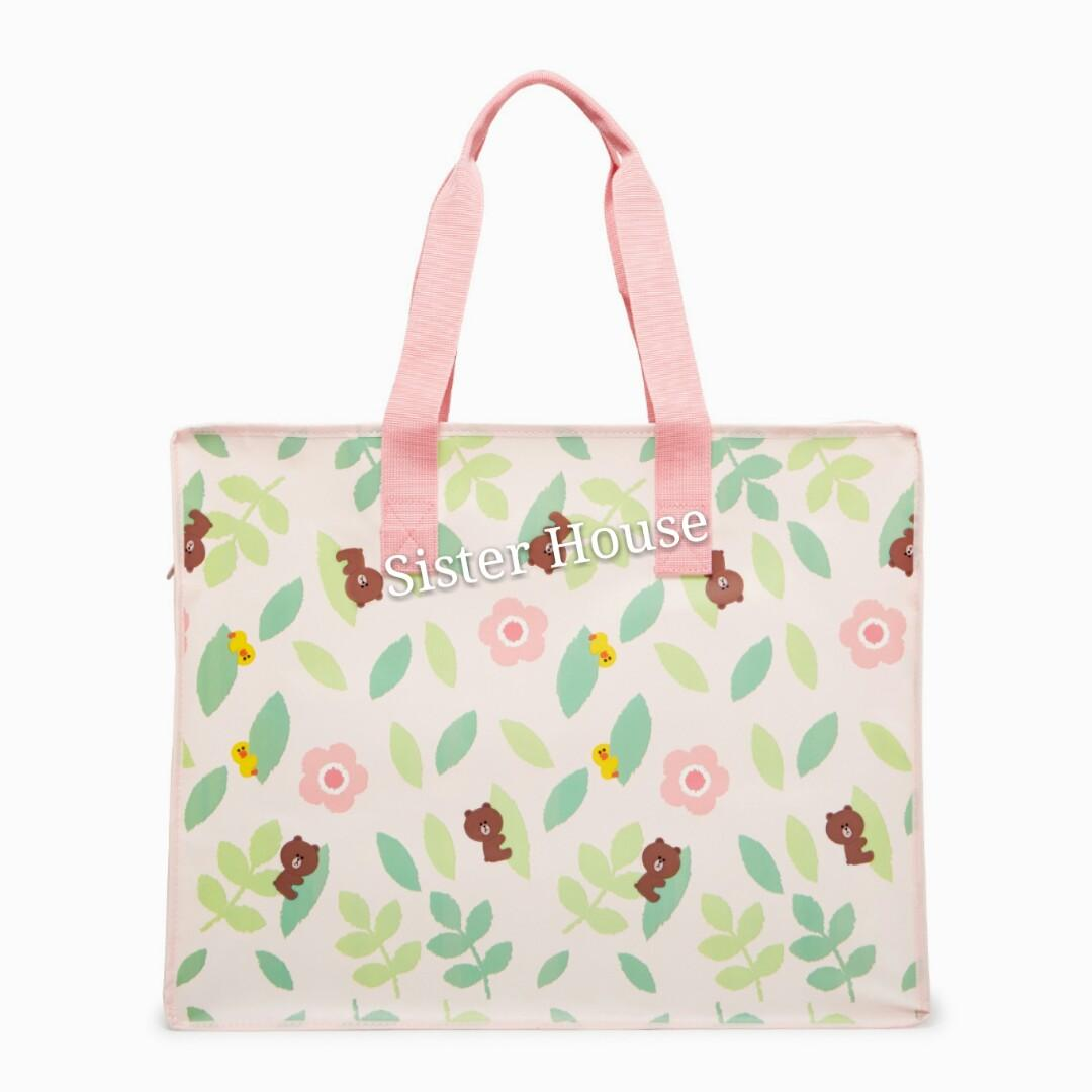 🇰🇷 LINE Friends Brown Sally Picnic Bag 熊大莎莉旅行袋