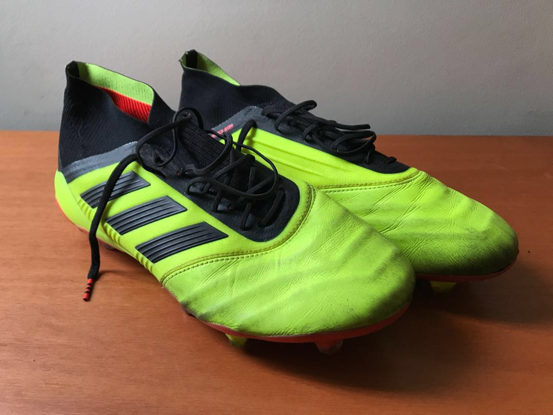 267134a89 Adidas Predator 18.1 Leather FG Solar Yellow Core Black Solar Red ...