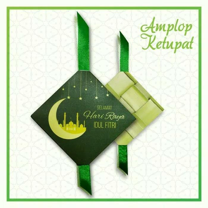 Amplop Lebara / Angpao / Idul Fitri Unik Bentuk Ketupat