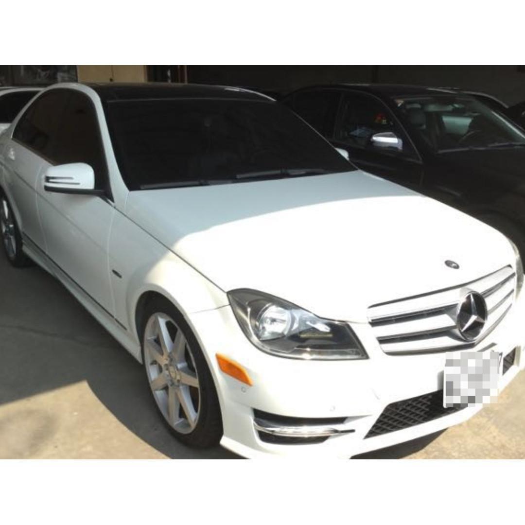 【Anna車庫】賓士 C250 2012雲朵白1.8 ~~有格調的車,獻給有品味的您,如果心動了趕緊跟我預約賞車