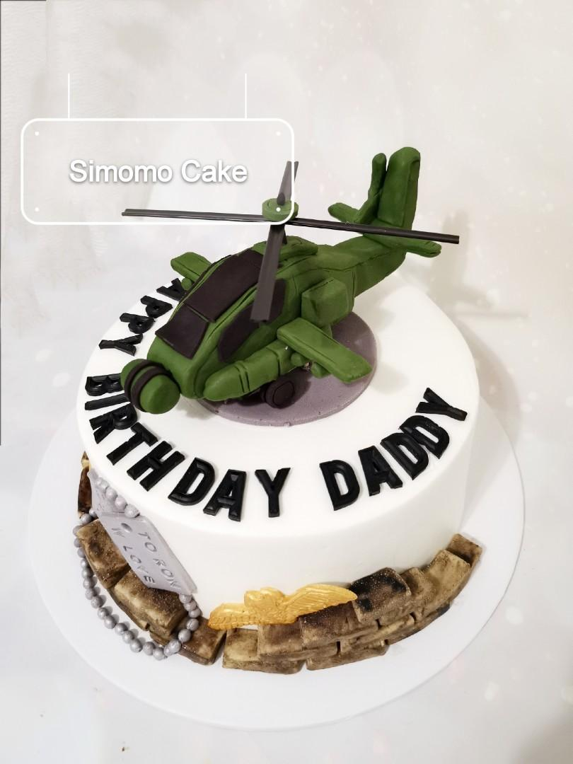 Apache Helicopter Cake (FREE DELIVERY)