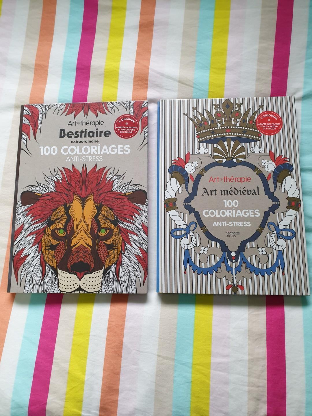Art Therapie 100 Coloriages Anti Stress Books Stationery Magazines Others On Carousell