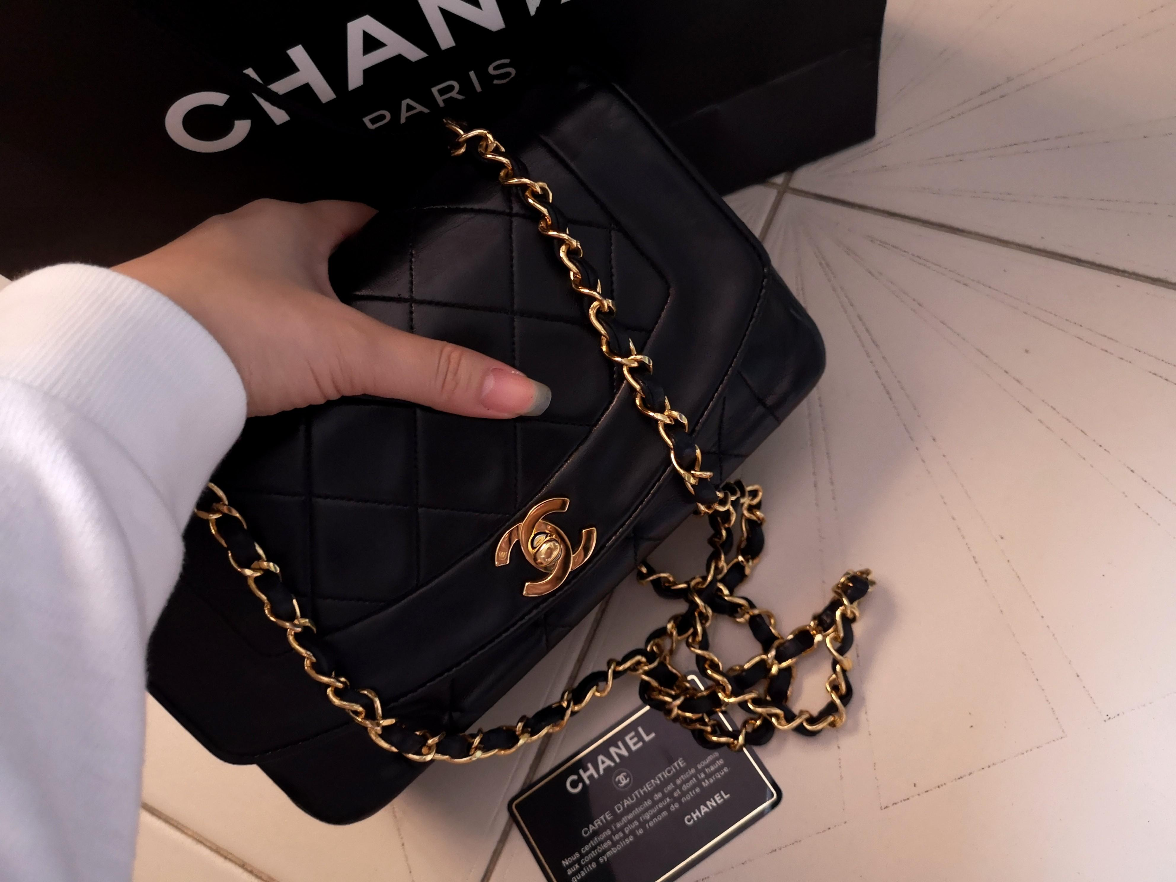 """Authentic Chanel Diana Flap 9 """""""