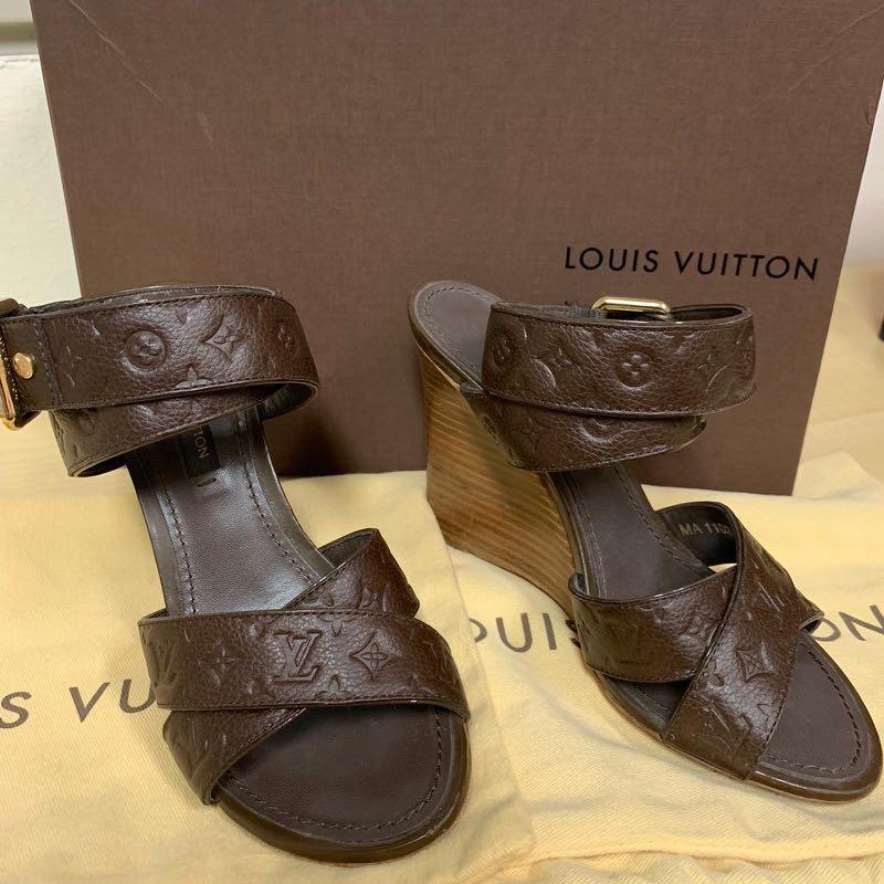 6e199257bf1c Authentic LV Louis Vuitton Wedges Heels Shoes Sneakers