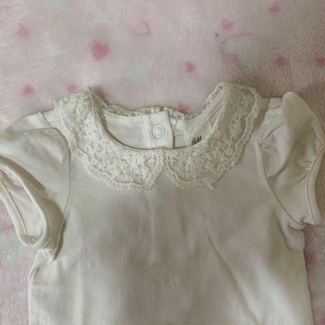 Baby Bodysuit H&M white lace