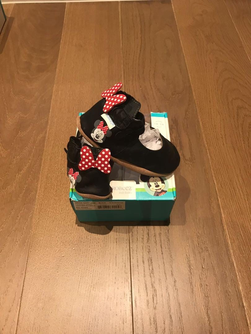 Baby Girl Robeez Minnie Mouse Shoes (18