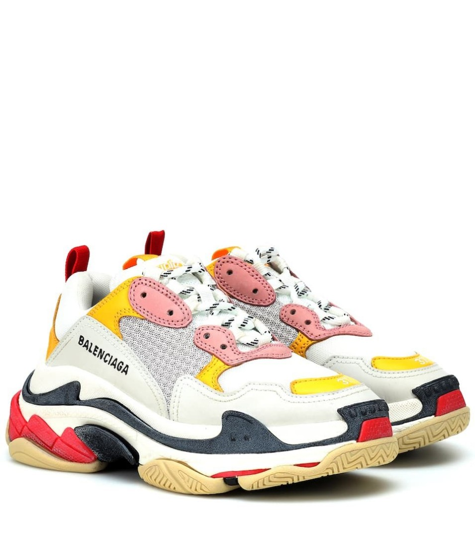 4d96320613740 Balenciaga Triple S Trainers in Yellow/Pink, Luxury, Shoes on Carousell
