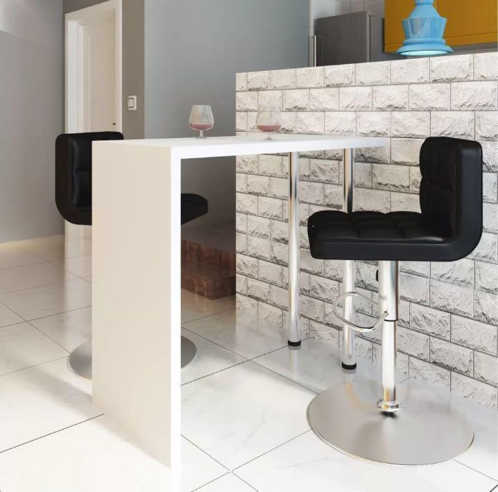 Bar Table High Gloss White