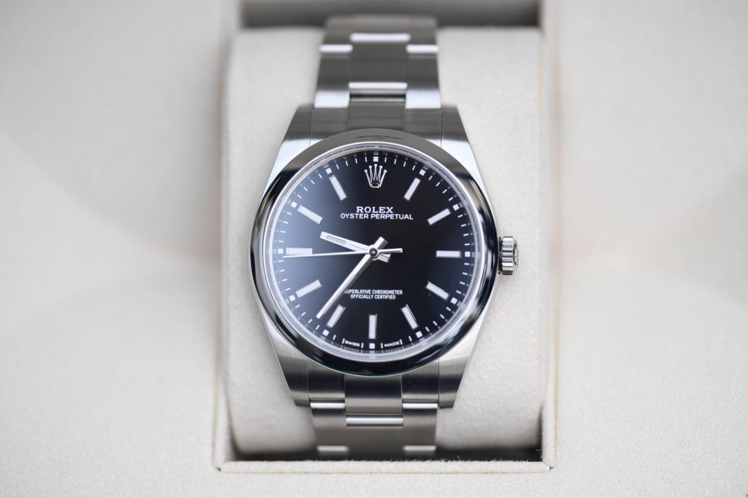 Bnib Rolex Oyster Perpetual 39 Black Dial Luxury Watches On Carousell