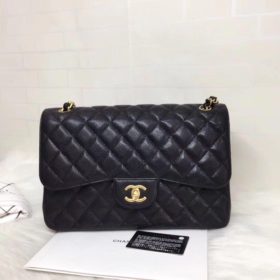 f04109f7ef0c6b 🌈⛄️Brand New Chanel Caviar CF Jumbo Classic Flap, Luxury, Bags ...