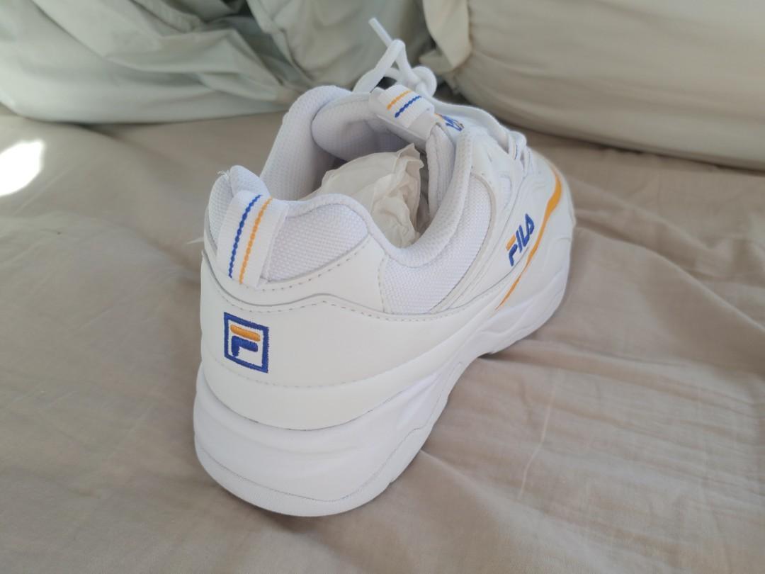 Brand New Fila ray x Folder White/Yellow 'Dad' Shoes