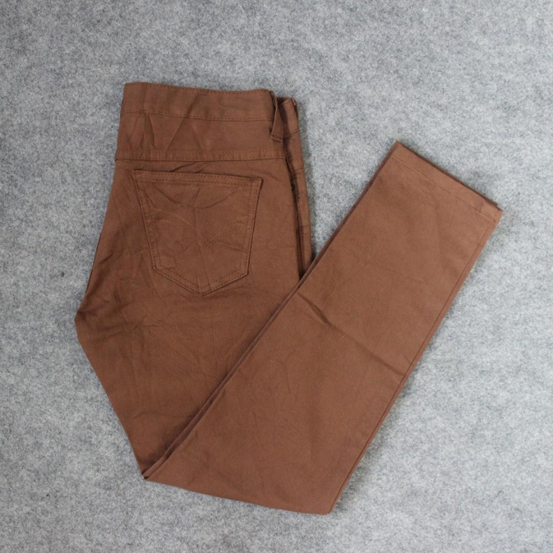 Celana Panjang Unkown Brown Second Original Murah